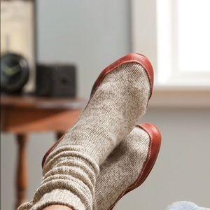 Acorn Rag Wool Slipper Socks